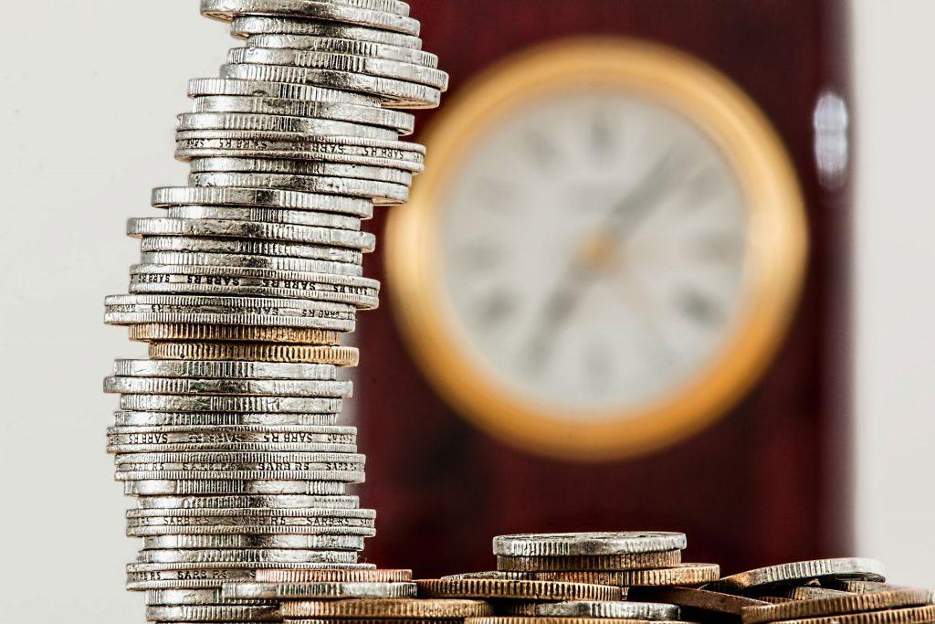 betriebliche Vorsorge Münzenstapel