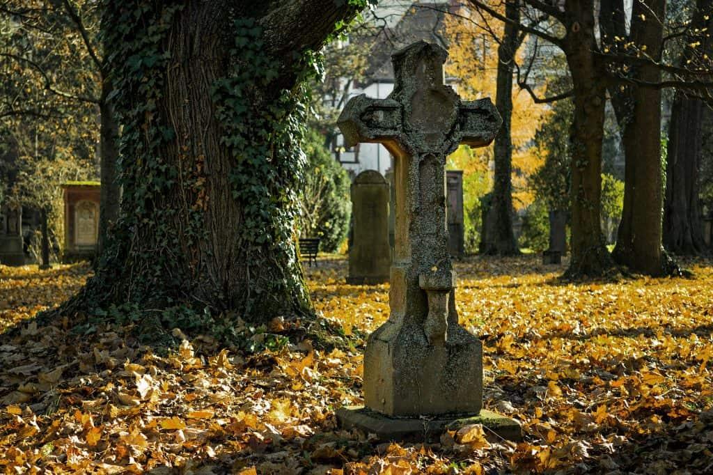 Friedhof Herbst Begräbnis